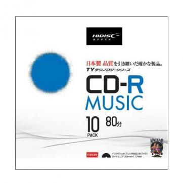 CD-R TYCR80YMP10SC(700MB 音楽用 10枚)